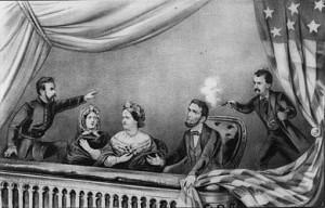 Verbeelding van de moord op Abraham Lincoln