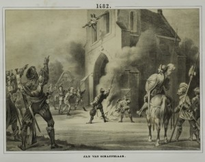 Jan van Schaffelaar springt van toren