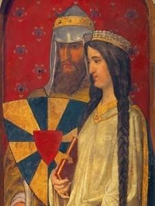 Boudewijn V van Vlaanderen en Adela van Mesen