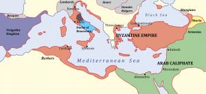 Byzantijnse Rijk rond 650