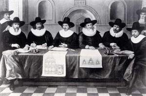 De regenten van het weeshuis van Gouda (in 1644)