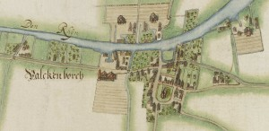 Detail uit de kaart van P. van Bilderbeeck, 1627 (Oud Archief Rijnland)
