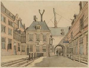 Beursplein Amsterdam door Gerrit Lamberts