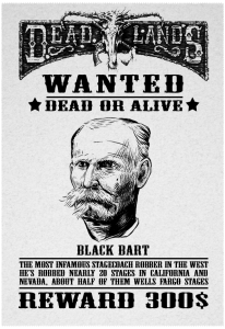 Black Bart Wanted