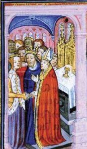Bruiloft van Eleonora van Aquitanië en Lodewijk