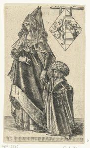 Geertruida van Saksen met haar zoontje Dirk van Holland