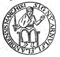 Zegel van Arnuld de Grote uit 941