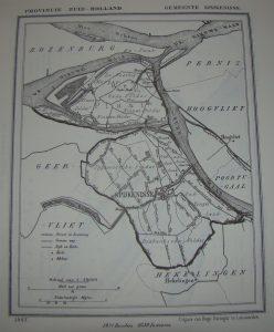 Spijkenisse in 1867, door J. Kuyper. 1650 inwoners.
